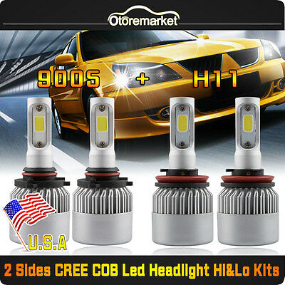 4PCS 400W 40000LM 9005 H11 CREE LED Headlight 6500K White For Ford Chevy Toyota