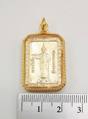 Pendant Lp Thanjay Talisman Yant 5 Row Rich Wealth Lucky Gambling Thai Amulet