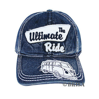 dda7d0f69aa73 Baseball Cap T1 Camper Bus Blue Jeans Volkswagen VW Collection by BRISA  BUCA01