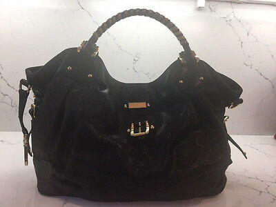 a44428bf34 Halston Heritage Black Leather Hobo Bag with Gold hardware. Excellent  Condition