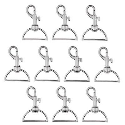 10pcs Metal Lanyard Hook Swivel Snap for Bag Lobster Clasp Silver Plated