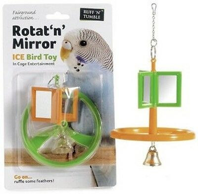 Karlie Rotating Swinging Mirror Budgie Bird Toy With Bell