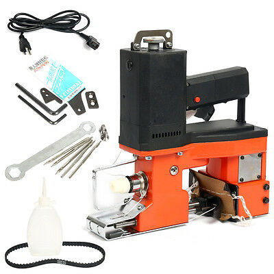 110V Industrial Portable Electric Bag Stitching Closer Seal Sewing Machine-RED