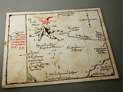Lord-of-The-Rings-Middle Earth The Hobbit  Sorin treasure map Prop collect-NEW