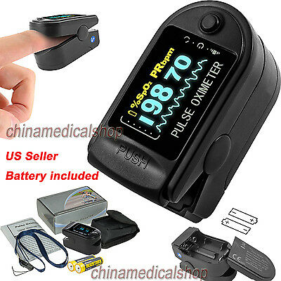 OLED Black Pulse Oximeter SPO2 PR Heart rate Oxymeter Oxygen Saturation US Sale
