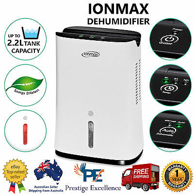 Ionmax Dehumidifier ION681 Compact Thermo-Electric Dehumidifiers Air Filter 2.2L