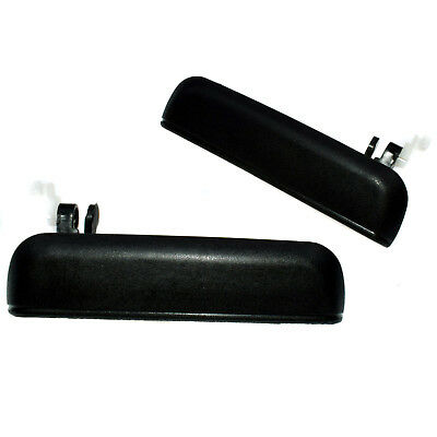 New Pair Set Exterior Door Handle For Toyota Tercel 1995-1999 Black Front LH&RH