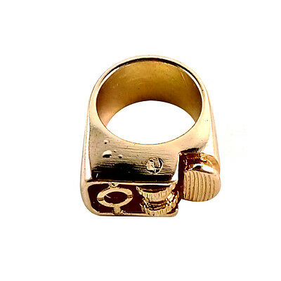 17mm Decorative Finger Lighter Ring Punk Vintage Retro Steampunk Gold Brand New