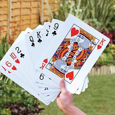 A3 Large Giant Jumbo Plastic Coated Playing Cards Deck Garden Family Fun Game