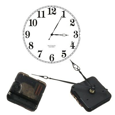 Replacement Quartz Clock Mechanism Movement Motor with 2 Hands & Fitting Nut