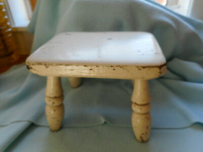 Antique Hand Made Painted Milking Stool
