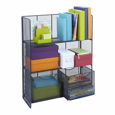 Shelving Unit Folding Shelf Book Storage A4 File Box Home Office Bedroom Modern