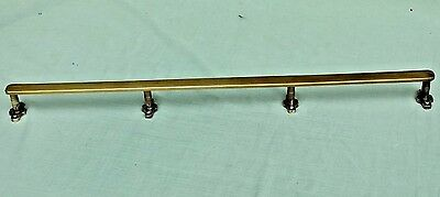 "Antique 27"" Heavy Duty Solid Brass Kitchen Utensil / Pan Hanging Rail Rack"