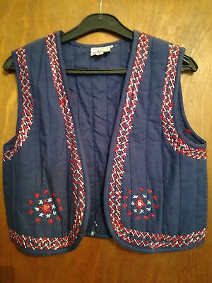 10 vintage 70s indian cotton waistcoat embroidered UNWORN hippy festival quilted