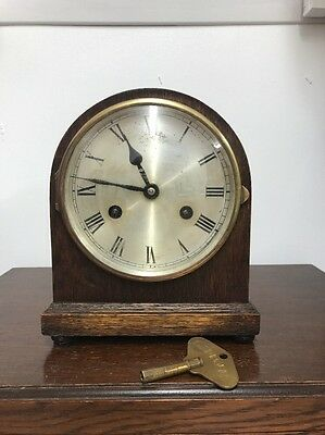 Antique Art Deco Chime Mantel Clock By Perivale.