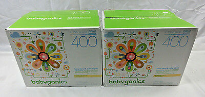 Babyganics Face, Hand & Baby Wipes, Fragrance Free, 800 Count (2 Boxes x 400ct)