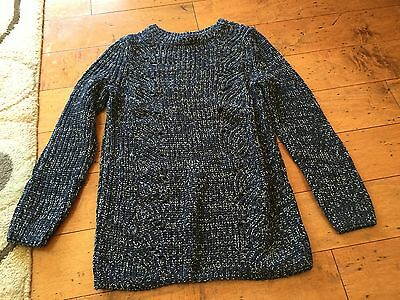Gap Maternity S Small Open Cable Marbled Navy & White Sweater New