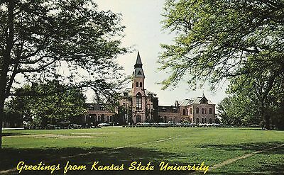 "*Kansas Postcard-""Greetings From Kansas State University"" /Manhattan/ #U1-KS87)"