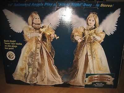 """24"""" Christmas International Animated STEREO Musical Angel Motionette *SEE VIDEO*"""