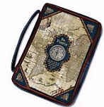 Span-Bible Cover-Nautical/Map-Large