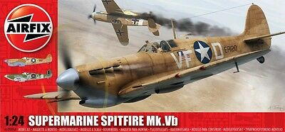 A12005A Airfix Supermarine Spitfire Mk.Vb 1:24 Scale Plastic Kit New & Boxed UK