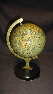 VINTAGE DESK TOP CHAD VALLEY TINPLATE LITHOGRAPH GLOBE No:10174 Childs Retro Toy