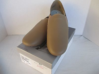 Women's American Ballet Theatre ABT Jazz Dance Shoes, Tan Leather, NWT, Size 8