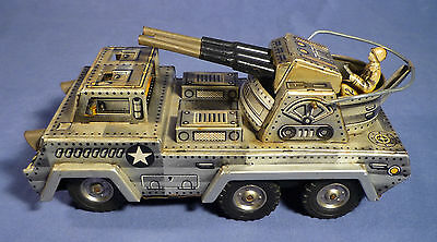 SANKEI K Anti Aircraft Military Truck 60's Friction Japan Blech Militär Lkw F179