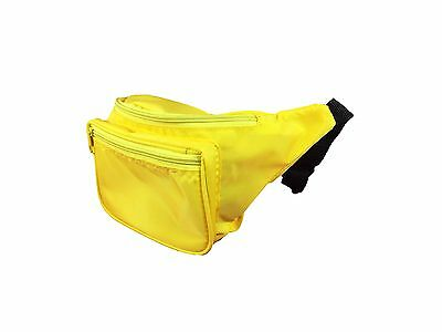 Neon Fanny Pack 80's Style Waist Bag 3 Pockets Multiple Colors Available