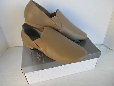 Women's American Ballet Theatre ABT Tan Leather Jazz Dance Shoes, NEW Size 8 1/2