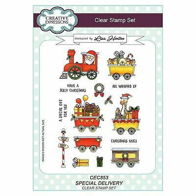 Creative Expressions Special Delivery A5 Clear Stamp Set CEC853