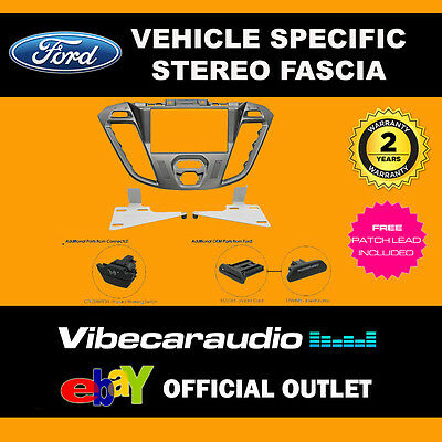 Ford Transit Connect 2012 on Double Din Stereo Facia Phoenix Silver CT23FD38