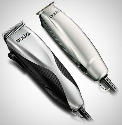Andis Promotor Barber Professional Hair Clipper Trimmer Combo Set Pro Kit Cut