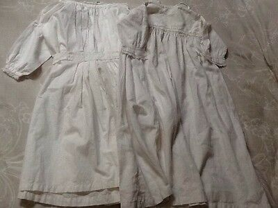 Antique Vintage White Cotton Baby / Child Dresses