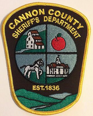 Cannon County Tennessee TN Tenn Police Sheriff Patch