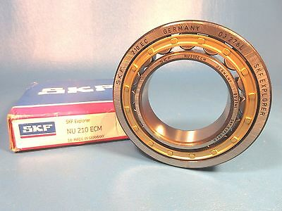 SKF NU 210 ECM Radial Roller Bearing; 50 mm ID; 90 mm OD; 20 mm W, German Made