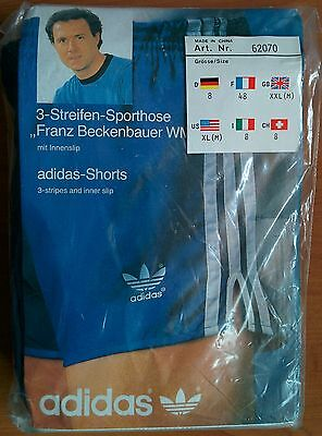 NEW Adidas Vintage Shorts Vinyl Shiny Beckenbauer 1980s Retro (China)