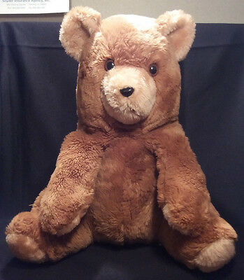 "16"" VIintage RUSS BERRIE CO Brown OLIVER Teddy Bear 661 Stuffed Animal Toy Plush"