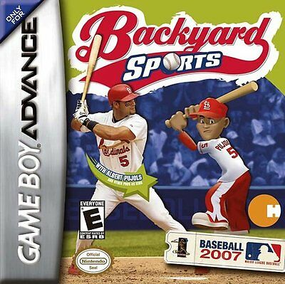 backyard sports baseball 2007 nintendo game boy advance