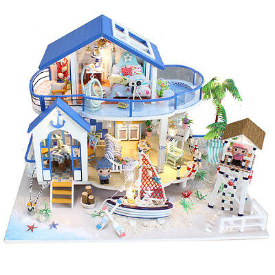 Hoomeda 13844 Legend Of The Blue Sea DIY Dollhouse Miniature Model With Light Mu