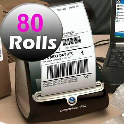 80 Rolls 220/Roll 4x6 Thermal Shipping Labels Blank Dymo 4XL Compatible 1744907