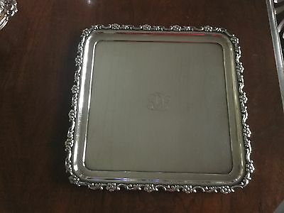 Vintage Tiffany & Co Silver Soldered  Old French 10 inch tray