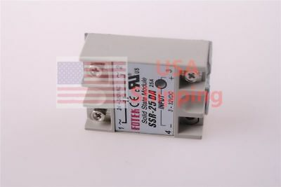 SSR-25DA 25A Solid State Relay DC-AC 3-32VDC 24-380VAC for Temp Controller Tool