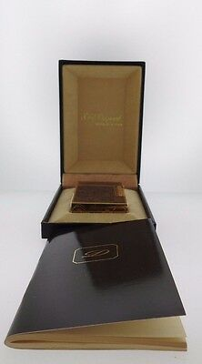 New Old Stock S.T. Dupont Wood Gold Lighter