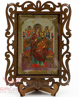 Virgin Mary Miraculous Icon Богоматерь Всецарица Orthodox Icon Wood