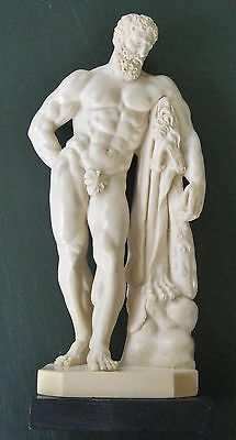 vintage antique style stone hercules farnese statue a santini very good casting