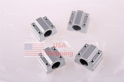 4PCS SCS8UU 8mm Linear Ball Bearing Pillow Block Linear Slides Unit for CNC