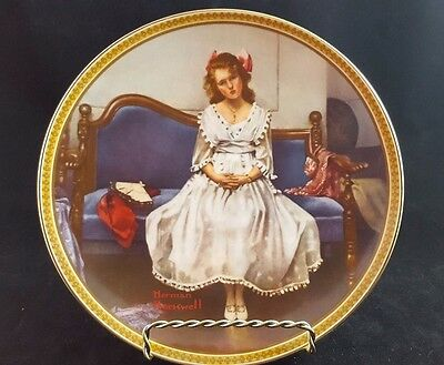 """Norman Rockwell Collector's Plate """"Waiting At The Dance"""" Knowles Vintage"""