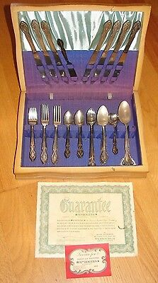 Vintage Set Of Rogers Bros. Silver Plate Silverware With Box