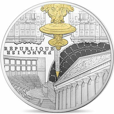"""2017 France 10 Euro Silver Proof Coin """"UNESCO Heritage: Place Concorde"""" #1338"""
